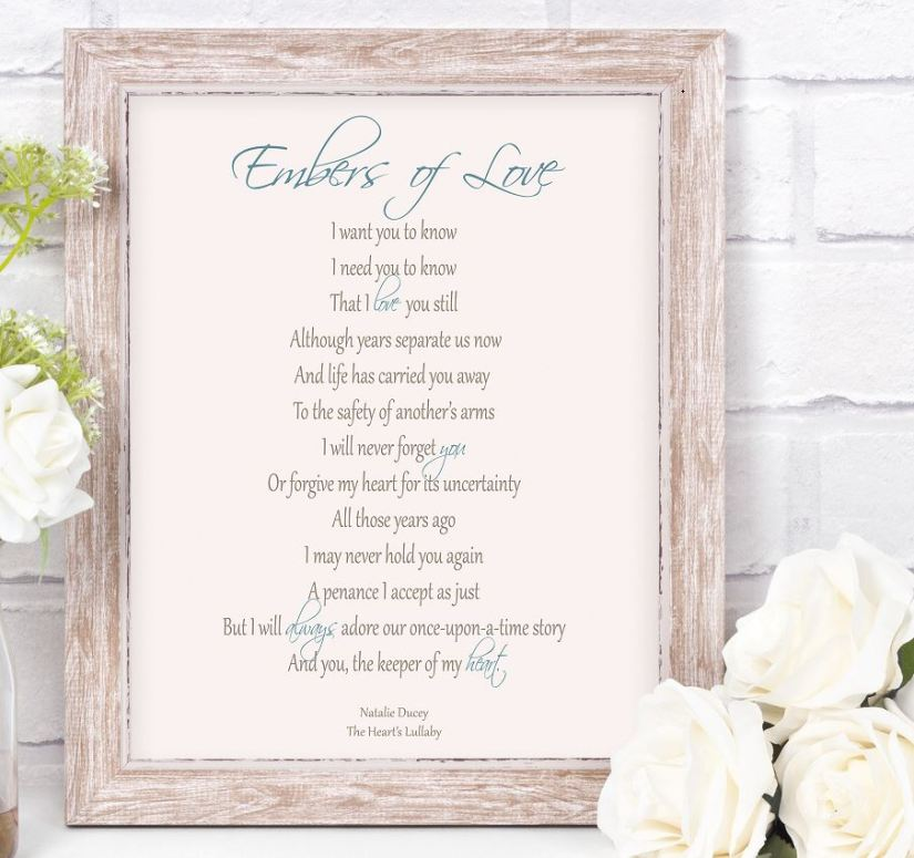 Embers of Love ~ Poem from The Heart's Lullaby by Natalie Ducey