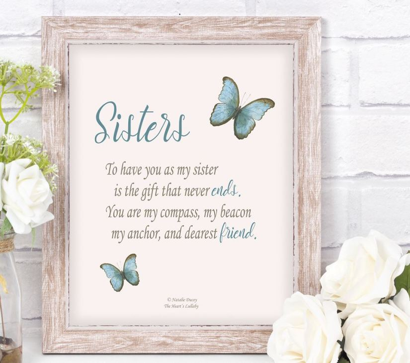A message of love for my sister.