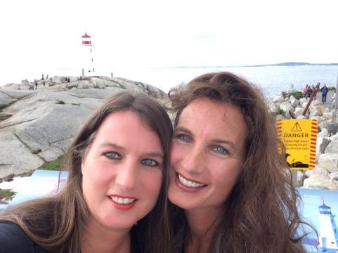 Nicole Osmond and Natalie Ducey at Peggy's Cove, Nova Scotia
