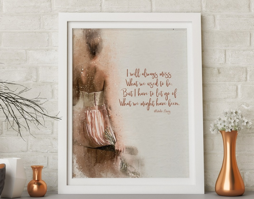 I will always miss ~ poem and design by Natalie Ducey
