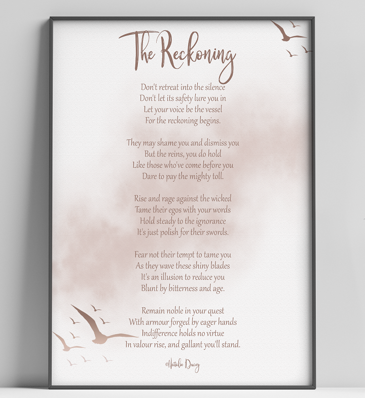 The Reckoning ~ a poem by Natalie Ducey