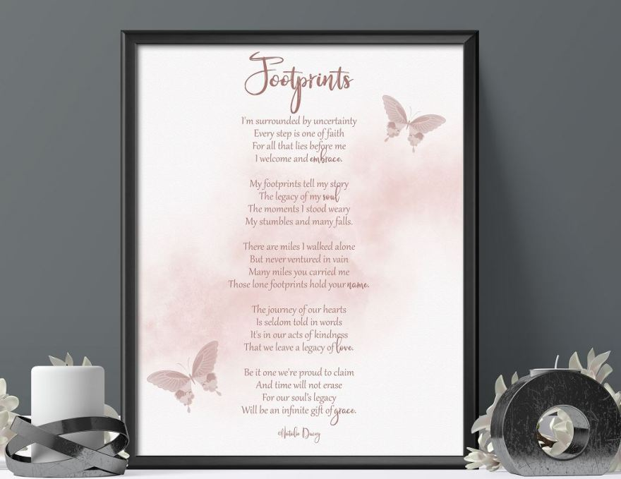 Footprints - a poem by Natalie Ducey